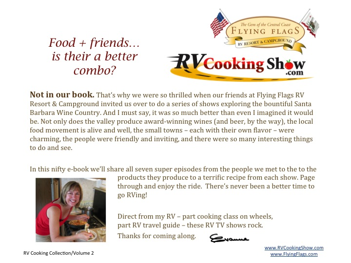 RV Cooking Show Flying Flags e Cookbook