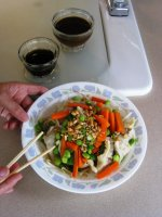 Steamed Potstickers and Vegetables